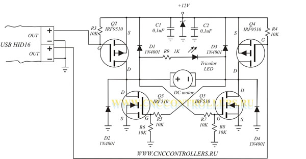 HID16sch on dc motor drawings